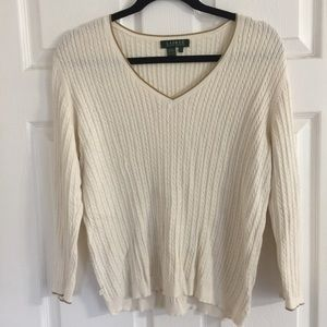 Lauren by Ralph Lauren light cable knit sweater
